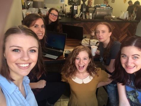 WordNerds write-in at Tricera Coffee!